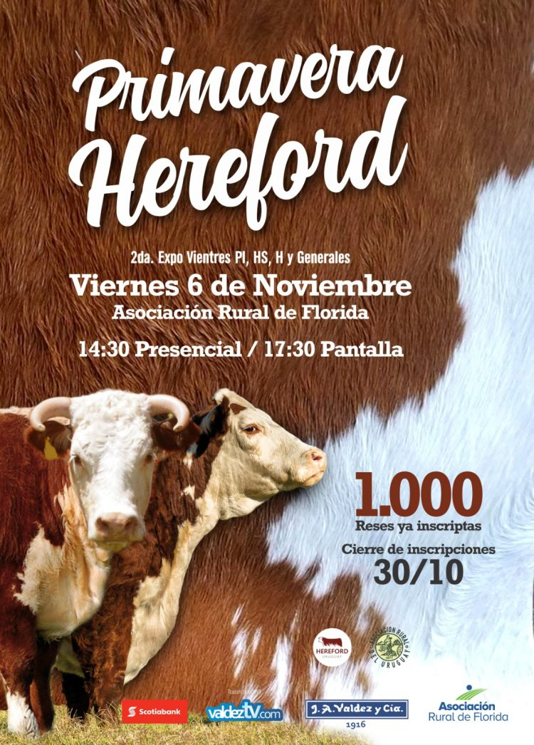 Afiche Remate Primavera Hereford 2020