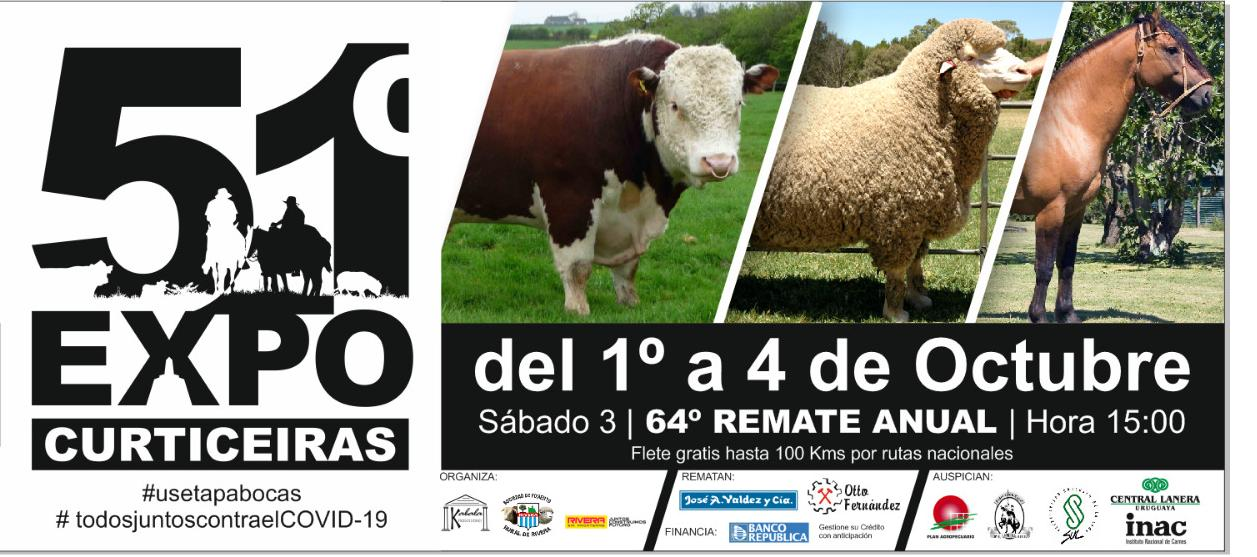 Afiche 64º Remate anual - Expo Curticeiras