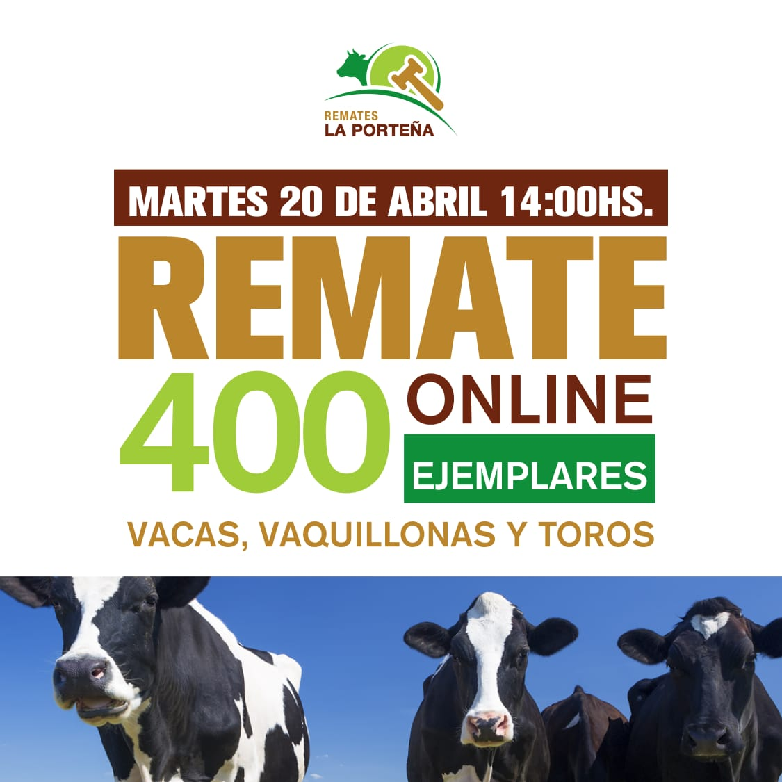 Afiche Primer Remate Virtual
